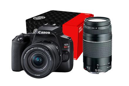 Combo Câmera SL3 Reembalada Viajante com Lente EF-S 18-55mm + EF 75-300mm