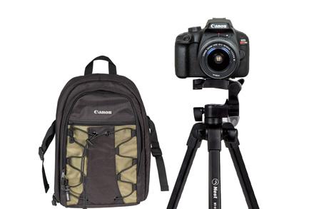 Combo Câmera EOS T100 com Tripé