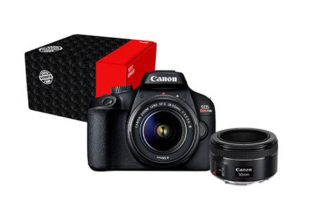 Combo Câmera EOS T100 Reembalada com Lente EF 50mm