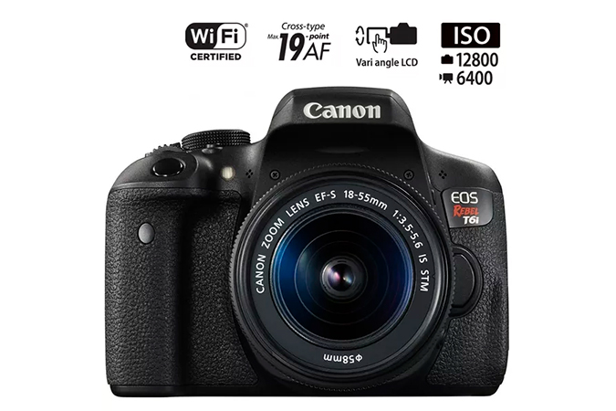 EOS Rebel T6I Kit EF-S 18-55mm IS STM view 1
