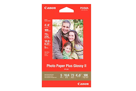 Papel Canon Plus Glossy II PP-201 4X6