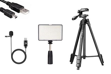 Kit de Acessórios Streaming para Câmeras EOS T7 ou T7+