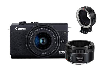 EOS M200 Fotógrafo Básico – M200 + ADAPTADOR EF-EOS-M + Lente 50mm