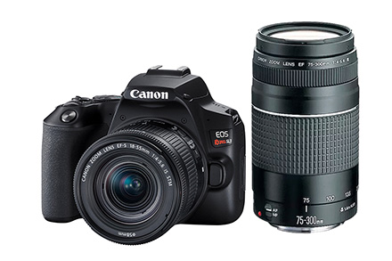 Combo Câmera SL3 Viajante com Lente EF-S 18-55mm + EF 75-300mm