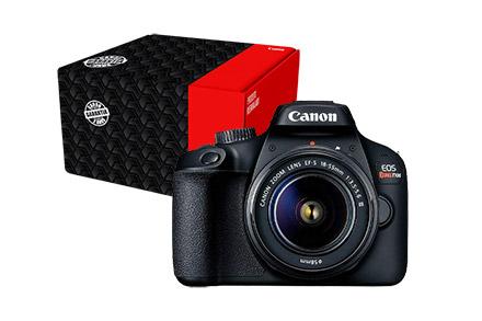 Câmera EOS Rebel T100 com Lente EF-S 18-55mm f/3.5-5.6 III Reembalada