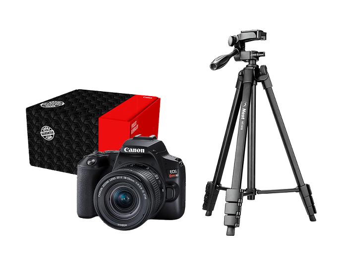 Combo Câmera EOS SL3 Streaming Básico com Mini Tripé e Cabo Mini USB Reembalado