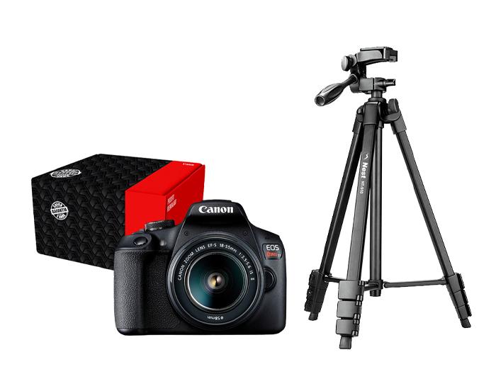 Combo Câmera EOS Streaming Básico T7+ Reembalado  com Mini Tripé e Cabo Mini USB
