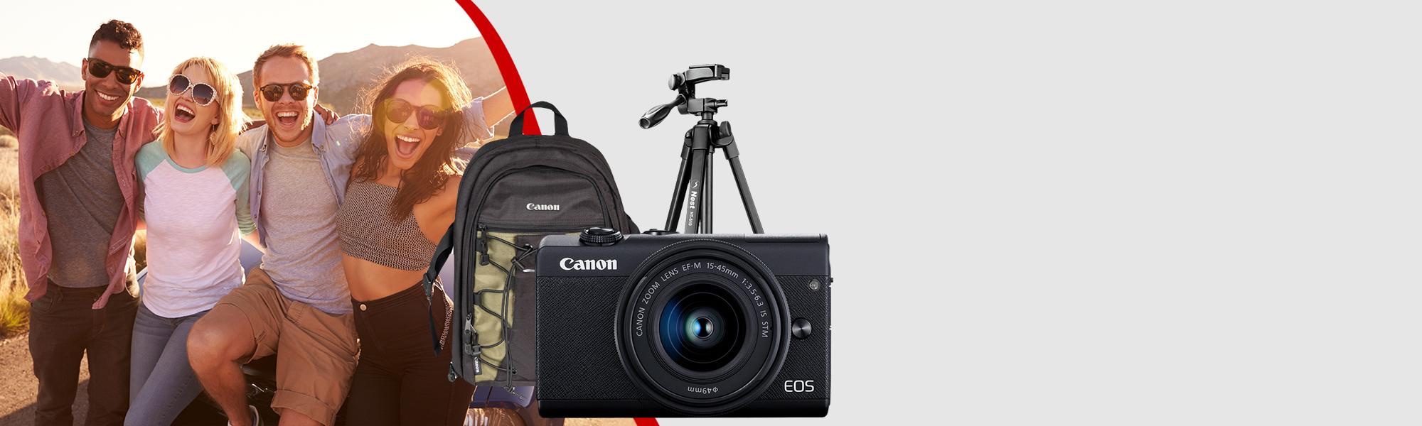 Combo Câmera EOS M200 com Tripé e Mochila