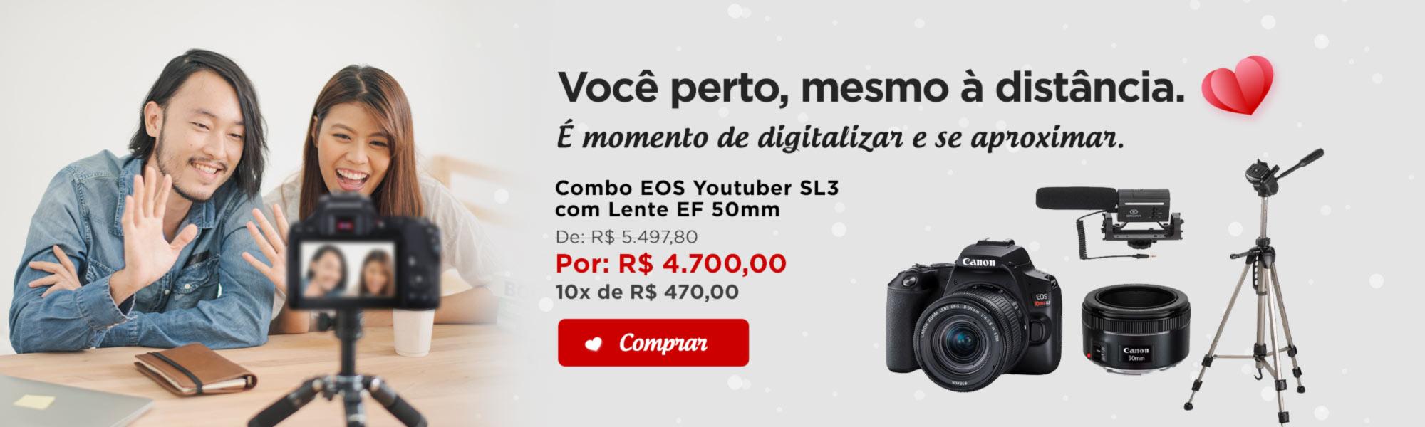 Combo EOS Youtuber SL3 com Lente EF 50mm