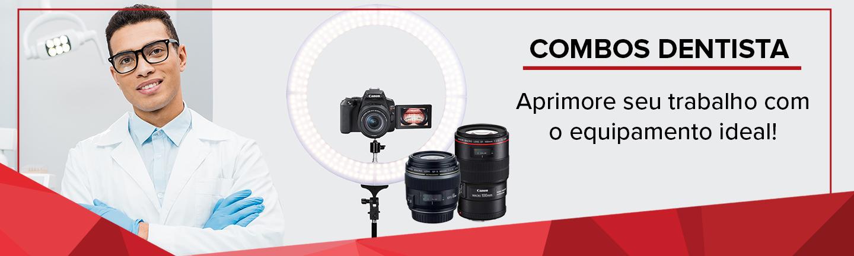 Temos as melhores câmeras e lentes para você, dentista! Aprimore seu trabalho adquirindo produtos Canon!