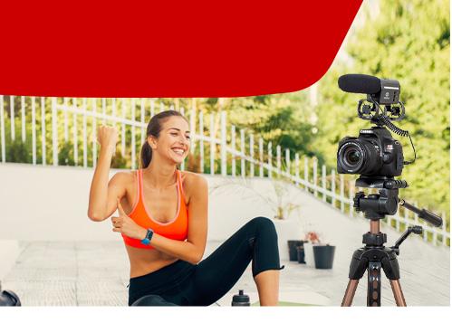 Combo Câmera SL3 Reembalada Youtuber com Microfone e Tripé