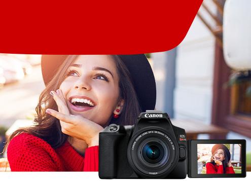 Câmera EOS Rebel SL3 com Lente EF-S 18-55mm Reembalada