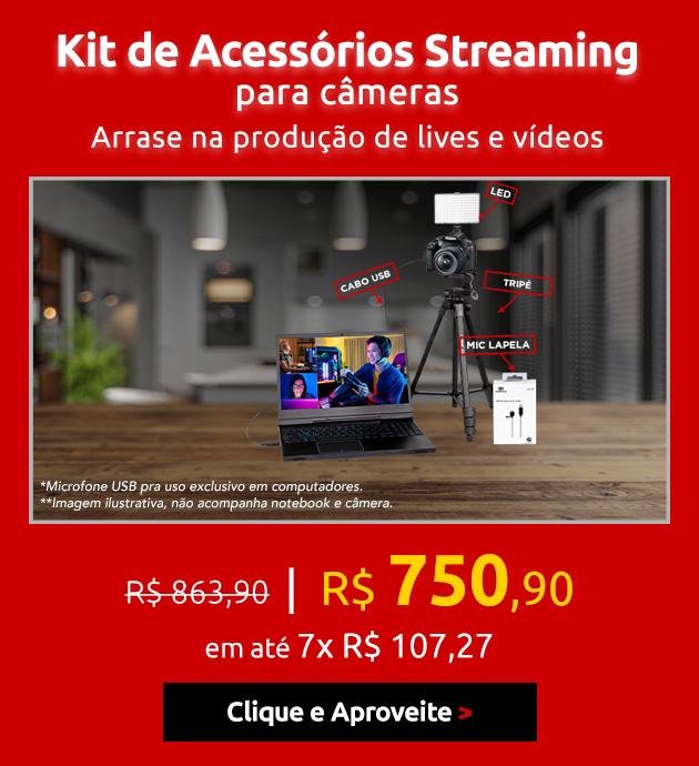 Kit de Acessórios Streaming para Câmeras EOS