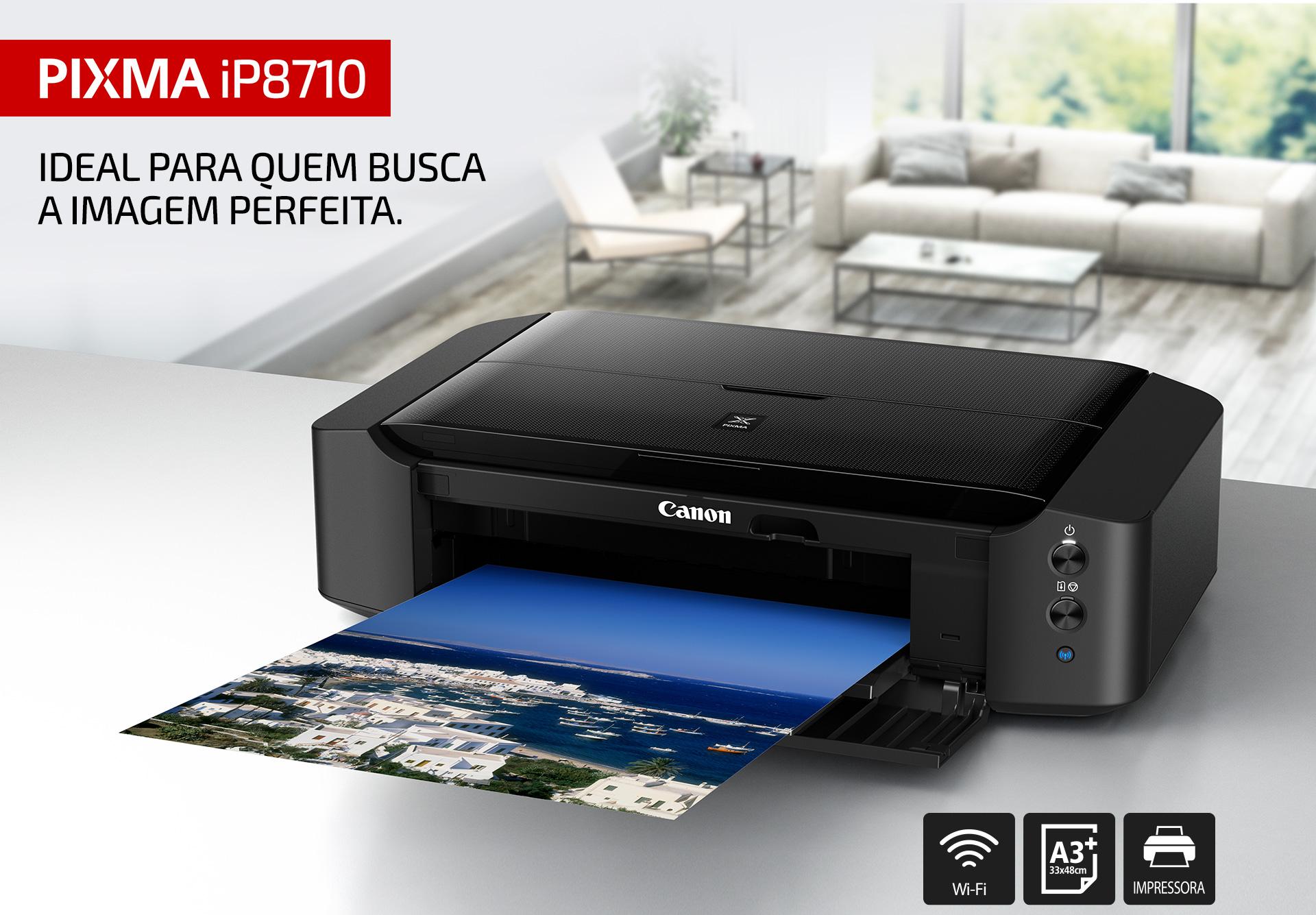 Impressora Fotográfica Jato de Tinta PIXMA iP8710