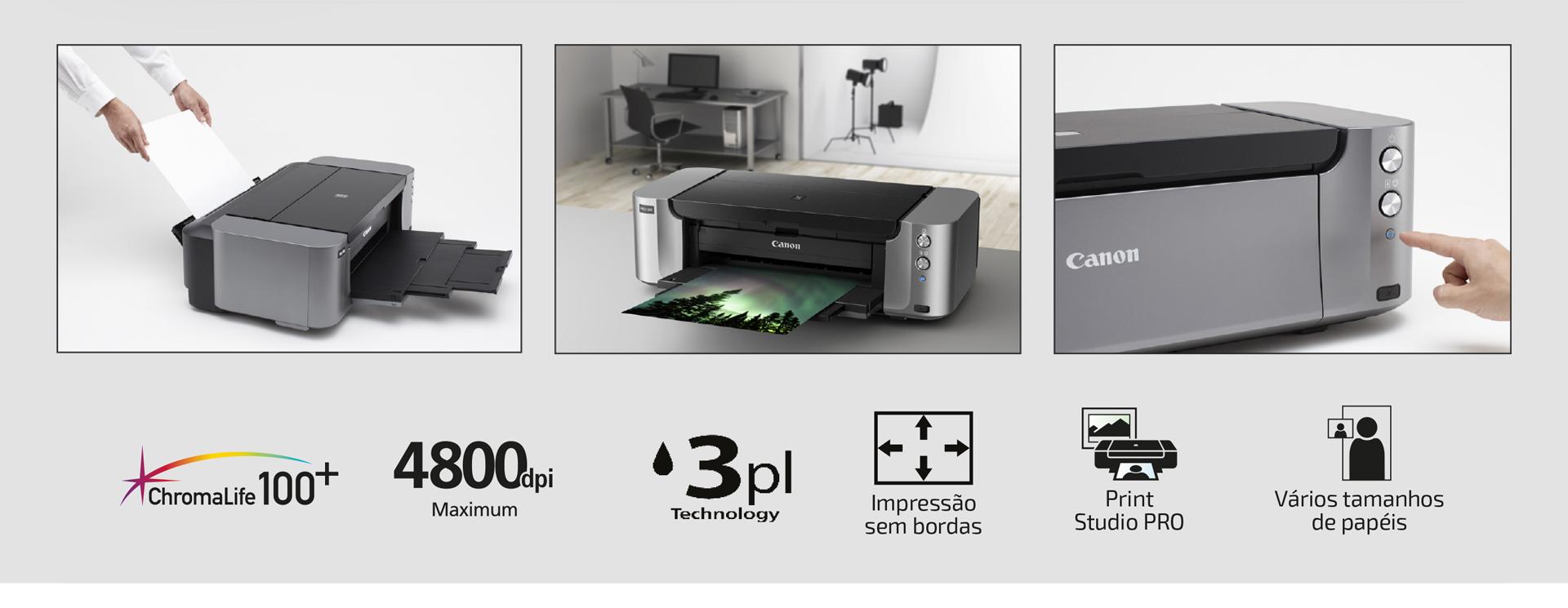 Impressora Fotográfica Jato de Tinta PRO-100 A3+
