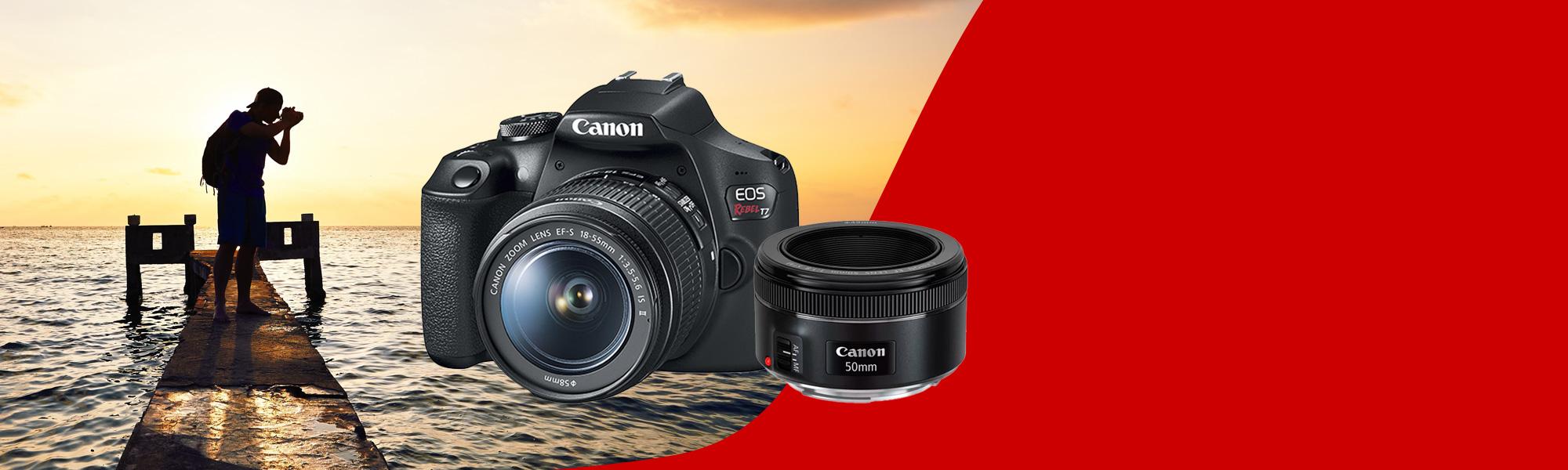 Combo Câmera EOS T7+ Reembalada Fotógrafo Básico
