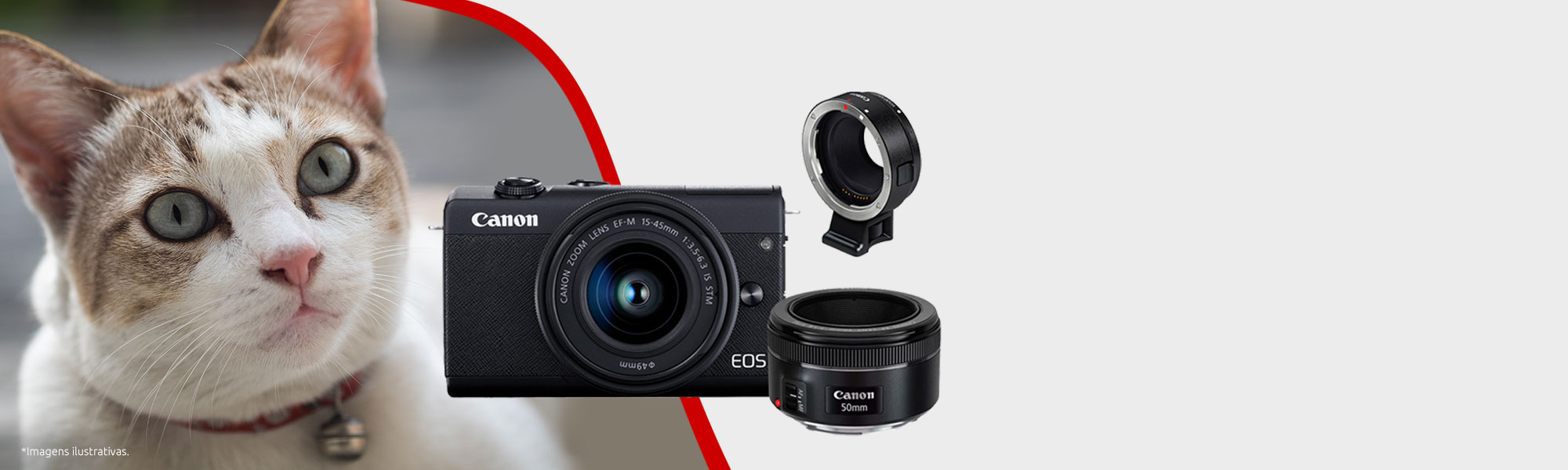 EOS M200 Fotógrafo Básico + ADAPTADOR EF-EOS-M + Lente 50mm