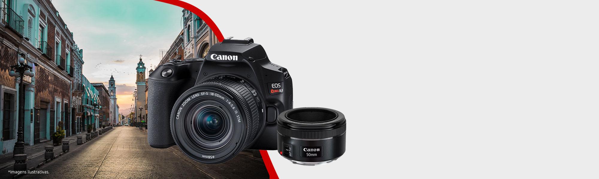 Combo Câmera EOS SL3 com Lente EF 50mm
